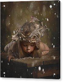 Snow Fairy 2 Acrylic Print by Lori Lynn