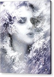 Acrylic Print featuring the digital art Snow Fairy  by Gun Legler