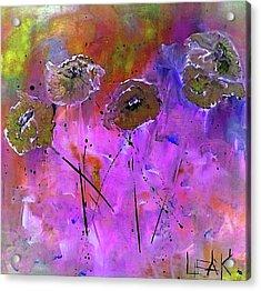 Snow Flowers Acrylic Print by Lisa Kaiser