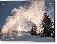 Snow Flume Acrylic Print