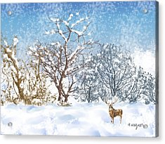 Snow Flurry Acrylic Print