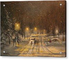 Snow For Christmas Acrylic Print by Tom Shropshire