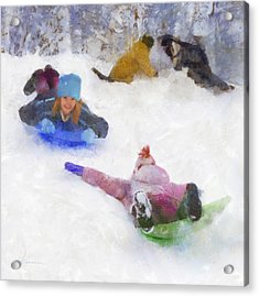 Snow Fun Acrylic Print by Francesa Miller