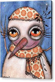 Snow Girl Acrylic Print by  Abril Andrade Griffith