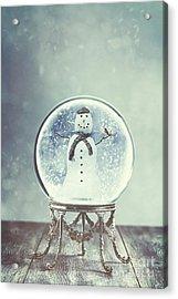 Snow Globe Acrylic Print by Amanda Elwell