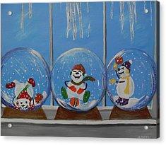 Snow Globes Acrylic Print