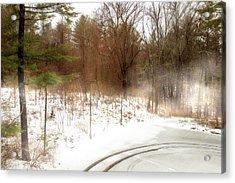 Snow In Spring Acrylic Print
