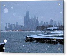 Snowy Chicago Acrylic Print