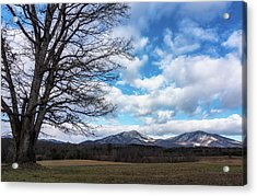Snow In The High Mountains Acrylic Print