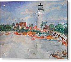 Snow Light At Cape Cod Acrylic Print by Warren Thompson