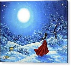 Snow Like Stars Acrylic Print by Laura Iverson