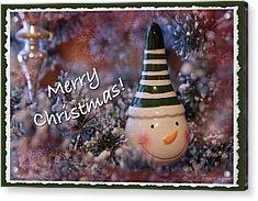 Snow Man Smile Acrylic Print