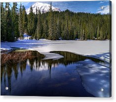 Snow-melt Revelations Acrylic Print by Peter Mooyman