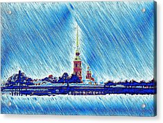 Snow Morning Acrylic Print by Yury Bashkin