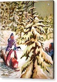 Snow - Neige Acrylic Print