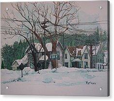 Snow Next Door Acrylic Print by Richard Ong
