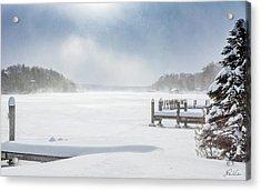 Snow On Lake Charlevoix Acrylic Print