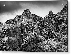 Acrylic Print featuring the photograph Snow On Peaks 46 by Mark Myhaver