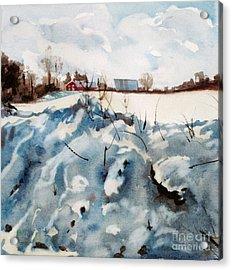 Snow On Southwick Acrylic Print by Elizabeth Carr