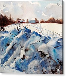 Snow On Southwick I Acrylic Print by Elizabeth Carr