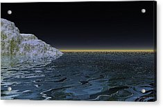Snow On The Black Sea Acrylic Print by Wayne Bonney