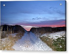 Acrylic Print featuring the photograph Snow On The Dunes by Barbara Ann Bell
