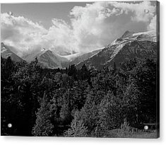 Snow On The Mountains Acrylic Print