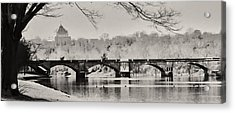 Snow On The River Acrylic Print by Bill Cannon