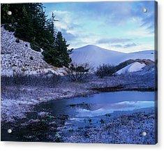 Snow On The Sand Acrylic Print