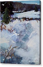 Snow Path Acrylic Print