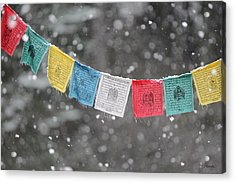 Snow Prayers Acrylic Print