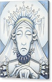 Snow Queen Mum Slumbers Acrylic Print by Amy S Turner