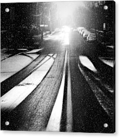 Snow Removal Acrylic Print by Diana Angstadt