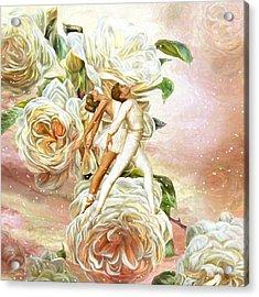 Snow Rose Ballet Acrylic Print