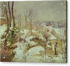 Snow Scene Acrylic Print by Camille Pissarro