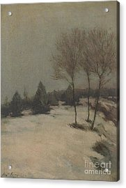 Snow Scene Acrylic Print by Celestial Images
