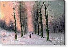 Snow Scene Wanstead Park   Acrylic Print