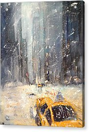 Snow Snow Snow... Acrylic Print by NatikArt Creations
