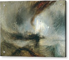 Acrylic Print featuring the painting Snow Storm by Joseph Mallord William Turner