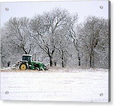 Snow Tractor Acrylic Print