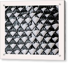 Snow Triangles After Storm Acrylic Print by Rene Crystal