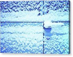 Snow Van 51 Chevy Panel Acrylic Print by Laurie Stewart