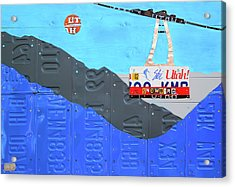 Snowbird Ski Resort Lift Utah License Plate Art Acrylic Print