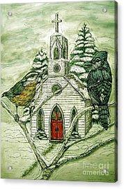 Snowbirds Visit St. Paul Acrylic Print by Kim Jones