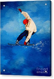 Snowboard Acrylic Print by Shasta Eone