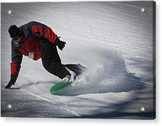 Acrylic Print featuring the photograph Snowboarder On Mccauley by David Patterson