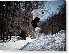Acrylic Print featuring the photograph Snowboarding Mccauley Mountain by David Patterson