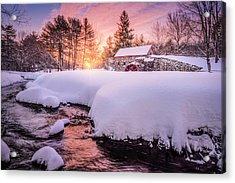 Snowbound Dawn Acrylic Print