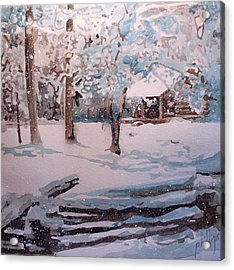 Snowbound Acrylic Print by Jim Phillips