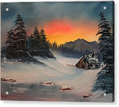 Snowbound Sunrise Acrylic Print